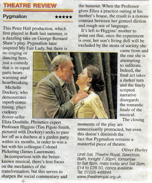 pygmalion review
